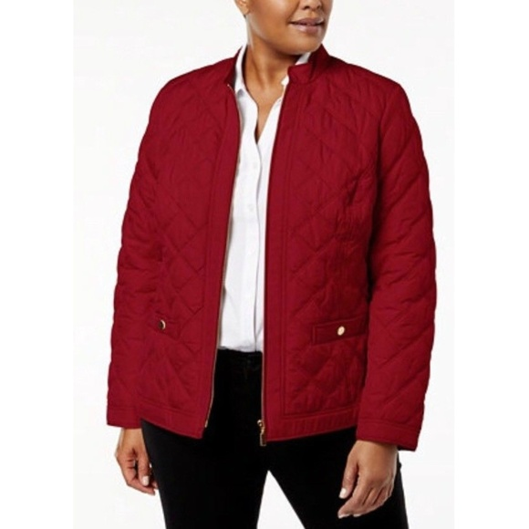 4a717d58199 Charter Club Women s Jacket Coat Red Plus Size 2X